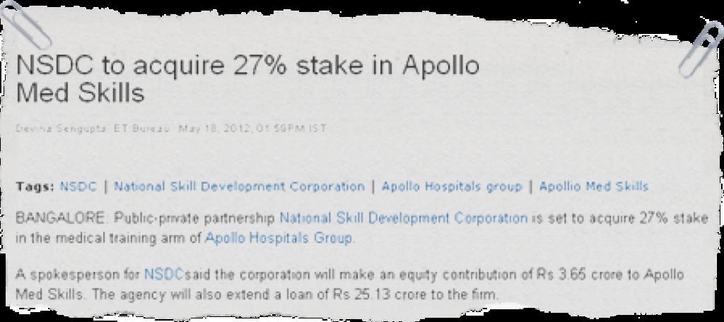 Apollo Medskills | Health Care Skilling Company in India